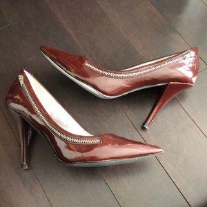 Jessica Simpson Maroon Faux Leather Heels